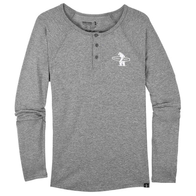 Men's Tees - Lake Street Henley Heather Grey And White