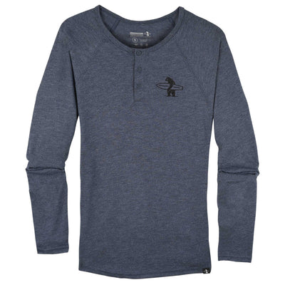 Men's Tees - Lake Street Henley Heather Navy