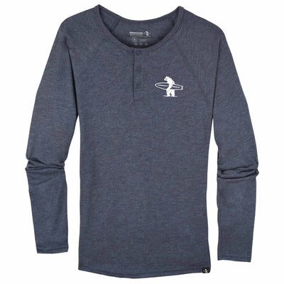Men's Tees - Lake Street Henley Heather Navy And White