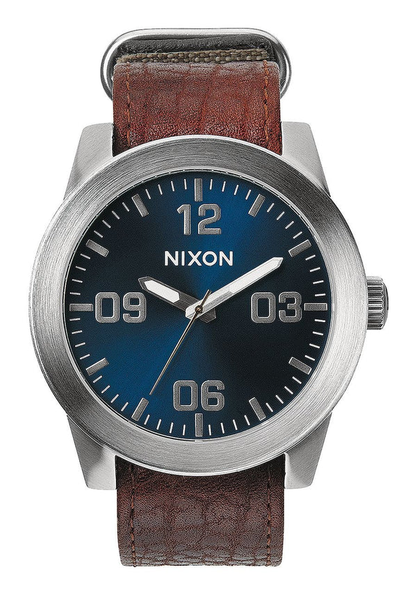Watches - Nixon Corporal Brown / Blue Sunray Watch