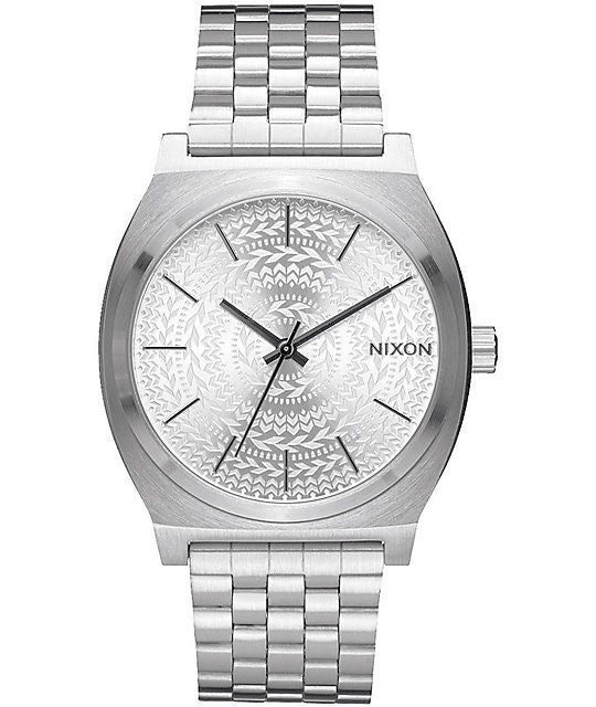 Watches - Nixon The Time Teller All Silver Stamped Watch