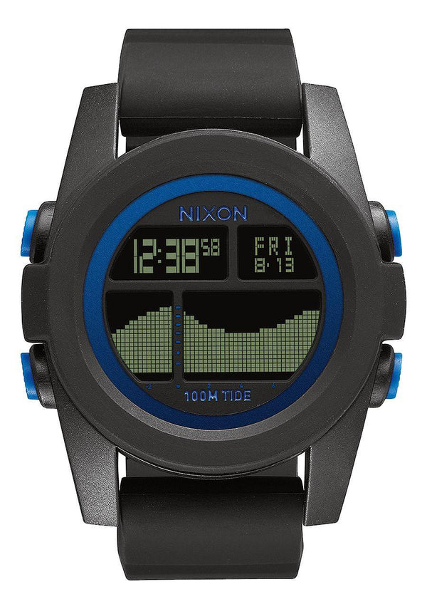 Watches - Nixon Unit Tide Black / Blue Watch