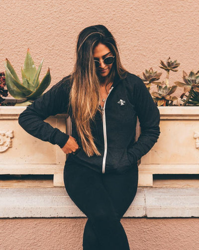 Women's Sweatshirts - Belle Zip Up // Charcoal