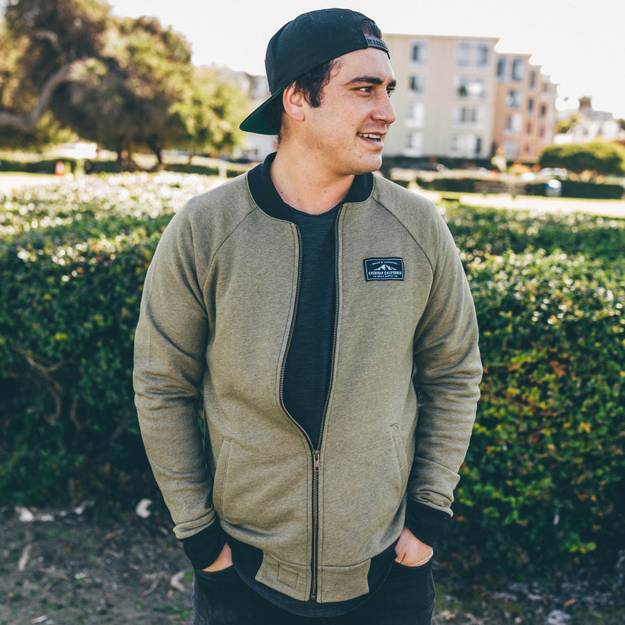 Men's Outerwear - Woodson Bomber Military Green