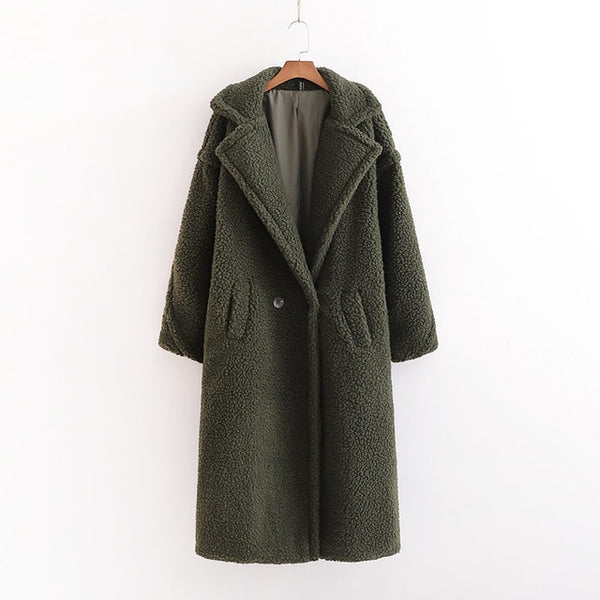 Full Length Warm Teddy Coat