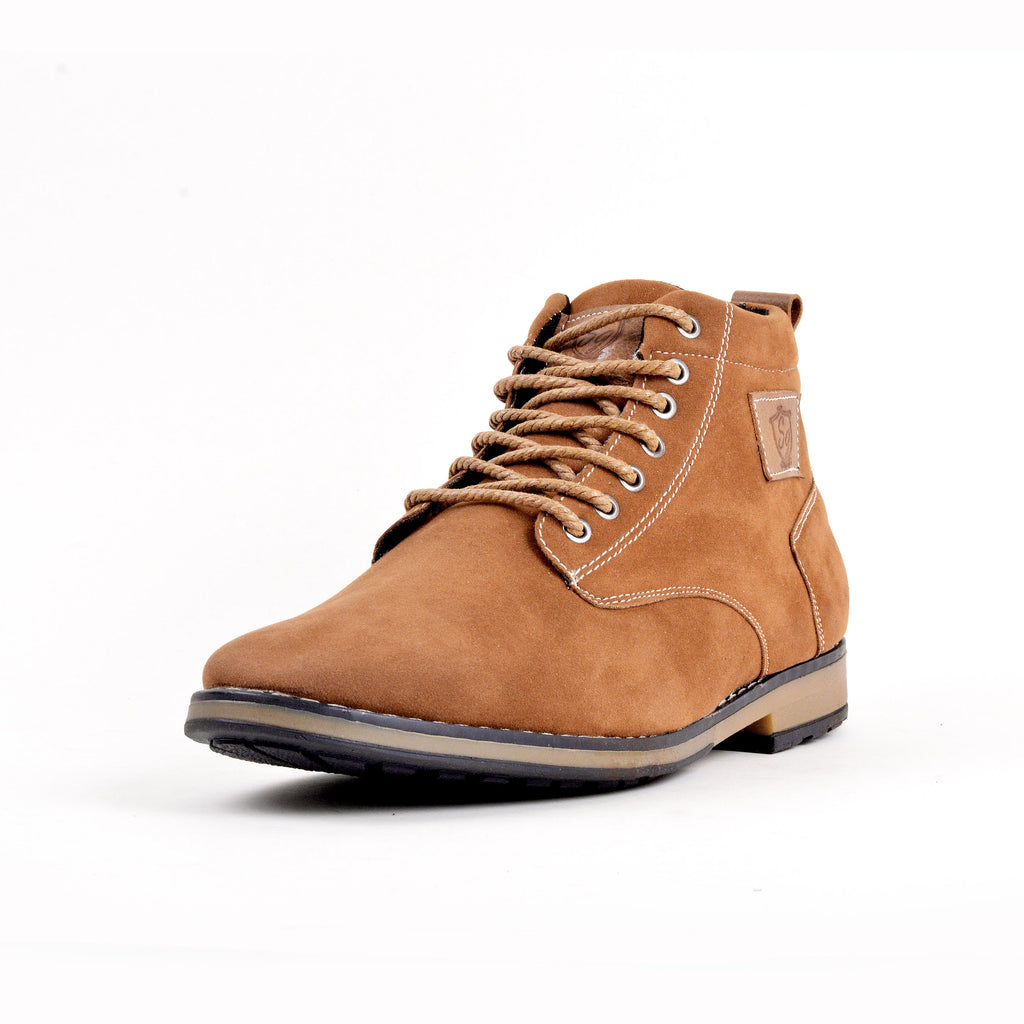 Bottines - Camel 100% Daim