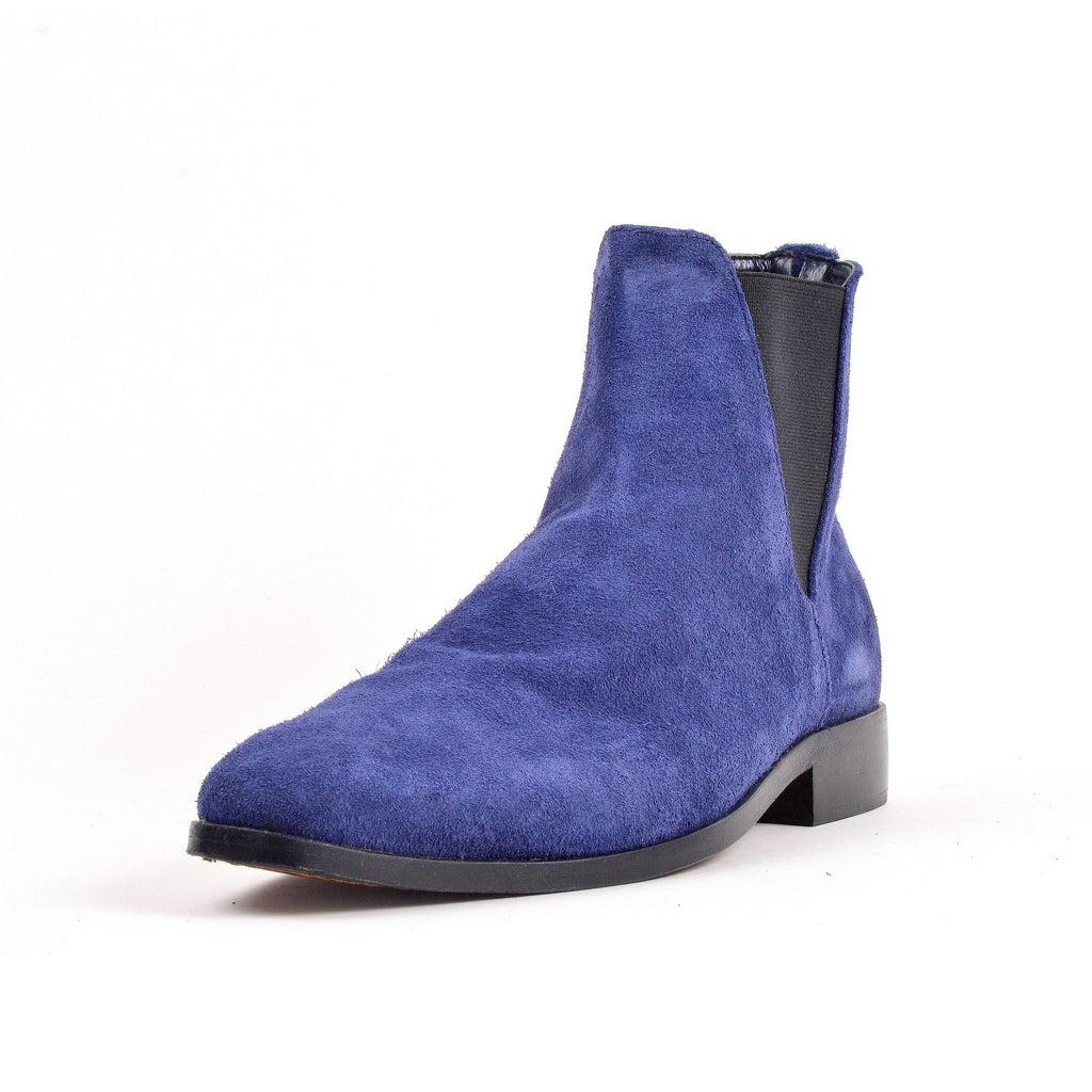 Bottines- Bleu 100% Daim