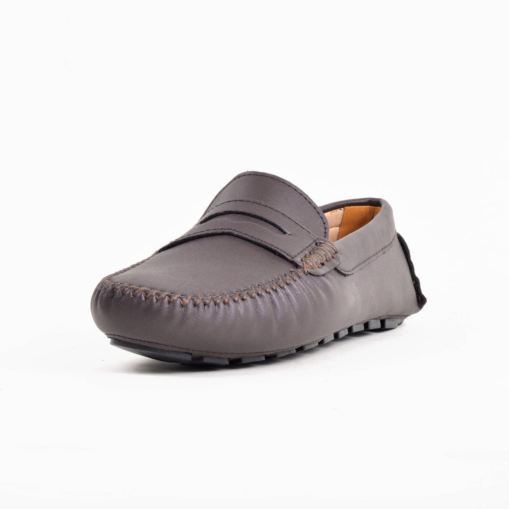 Mocassins- Taupe 100% Cuir