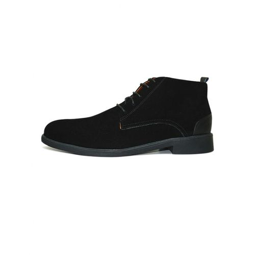 Bottines- Noir 100 % Daim