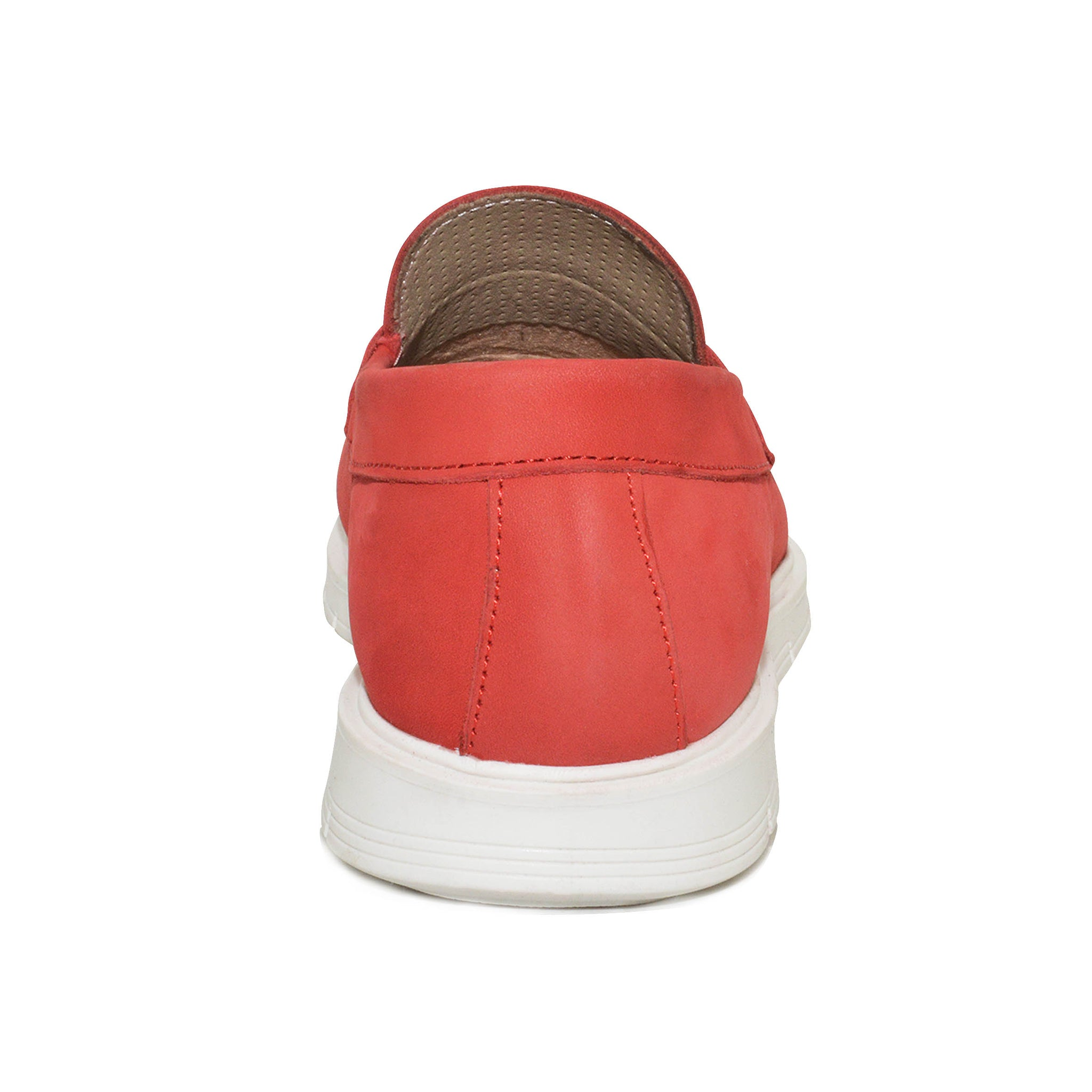 Mocassins - Rouge 100 % cuir