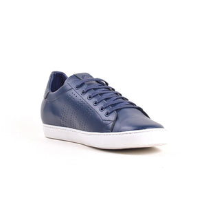 Baskets - Bleu 100% Cuir