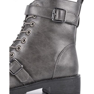 Bottines  C'M Paris Gris 100% Cuir