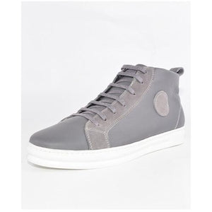 Baskets- Gris 100 % Cuir