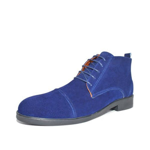 Bottines- Bleu 100 % Daim