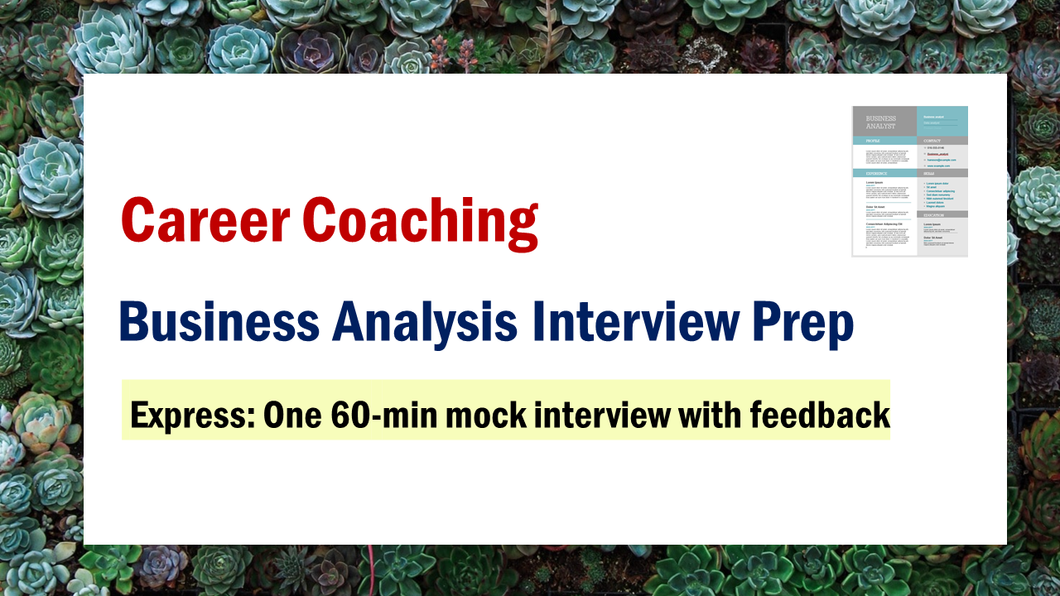 Business Analysis Interview Prep (Express)