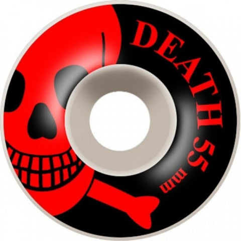 Death Skateboards Skull Wheels Black 55mm