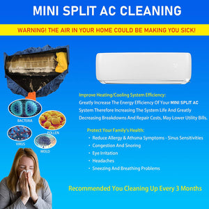Ductless Mini Split DC Inverter AC Air Conditioner Cleaning Waterproof Cover and Washing Clean Protector Bag