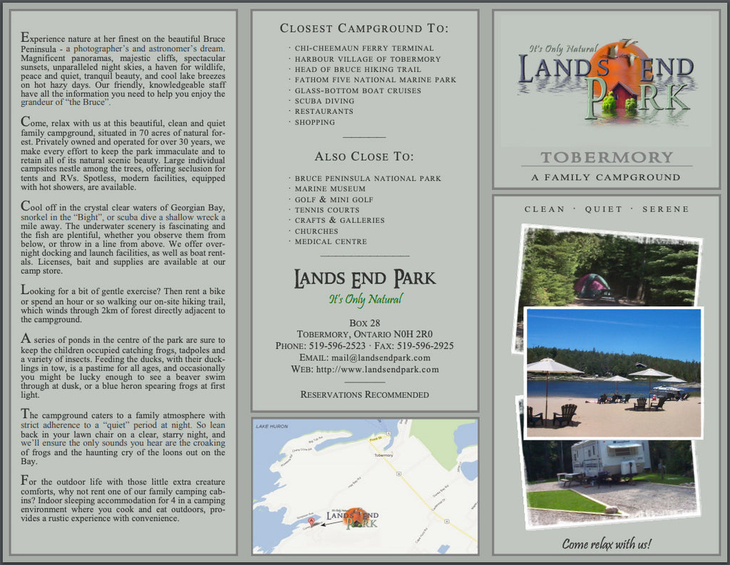 Lands End Park Brochure Page 1