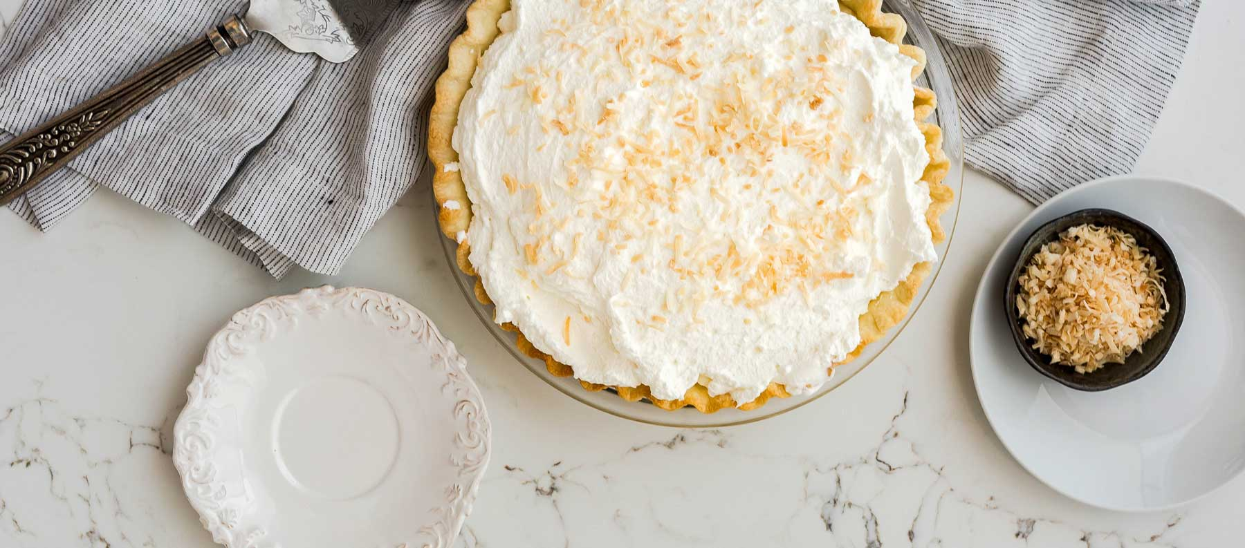 Salted Banana Coconut Cream Pie