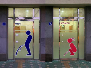 Man-woman-peeing