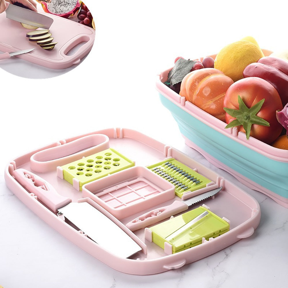 9 in 1 Multifunctional Chopping Board and Mandolins Set [FREE SHIPPING]