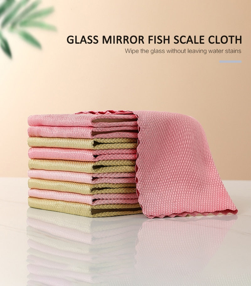 Fish scale microfiber polishing cleaning cloth (5PCS) [FREE SHIPPING]