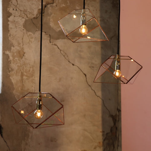 cluster hanglamp mae trio in koper