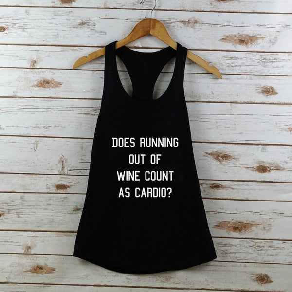 Does Running Out of Wine Workout Tank