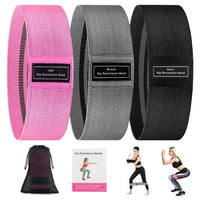 3 Packs Resistance Booty Band SET
