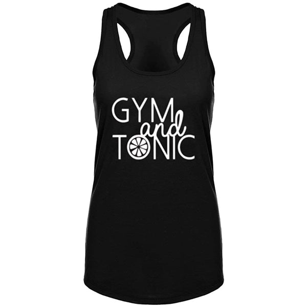 Gym and Tonic Fitness Workout Racerback Tank Tops