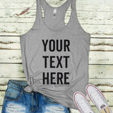Island time ladies sexy workout tank tops