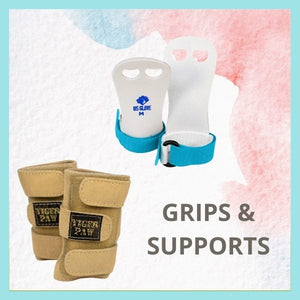 Collection of gymnastics grips, wrist supports, terry wrist bands. Sudbury Ontario Canada.