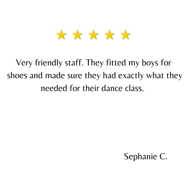 Lovely testimonial for Jump The Dance Store in Sudbury Ontario. Thank you Stephanie C.