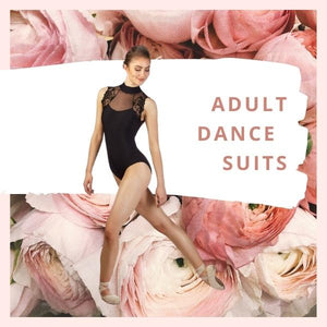 Collection of Ladies Adult dance wear and black leotards. Beautiful brands like Ballet Rosa, Bloch, Bodywrappers, SoDanca, Mondor and Wear Moi. Sudbury Ontario Canada.