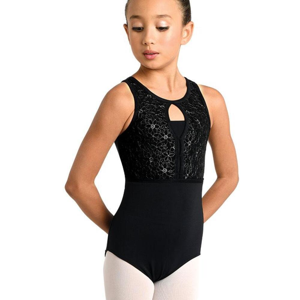 19123C EMBROIDERED CRISS CROSS TANK LEOTARD | Jump! The Dance Store