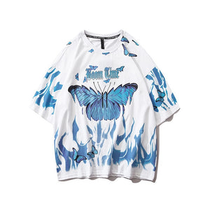 Dark Icon Butterfly Street Fashion T-shirt