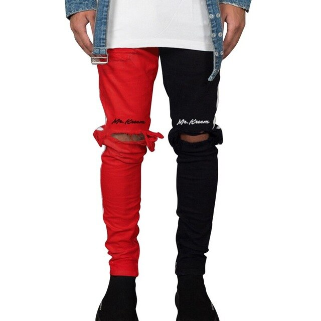 Male Street Hip Hop Vintage Skinny Pants