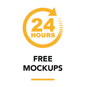 FREE mockups in 24 hours or less!
