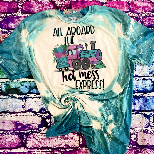 Hot Mess Extress Bleached T-Shirt