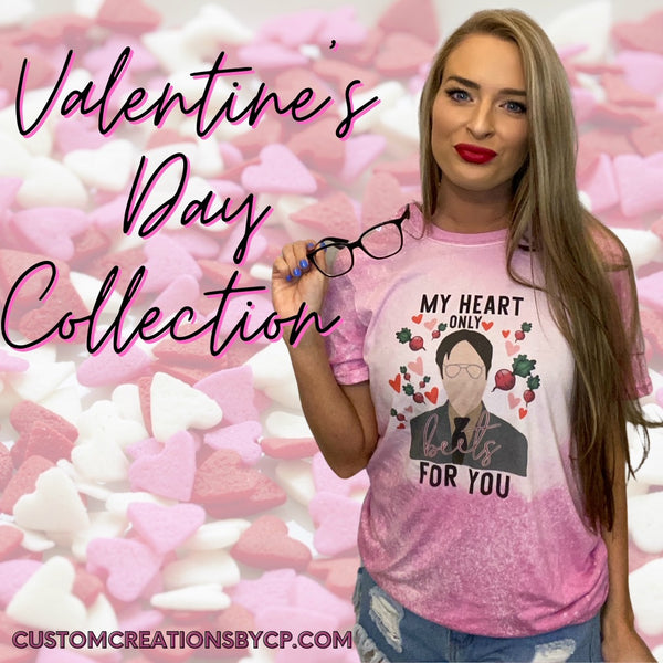 My Heart Only Beets for You Dwight T-Shirt Valentines Day