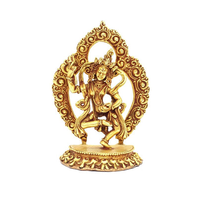 Machig Labdron Statue Buddhist meditation shrine 3 inches gold