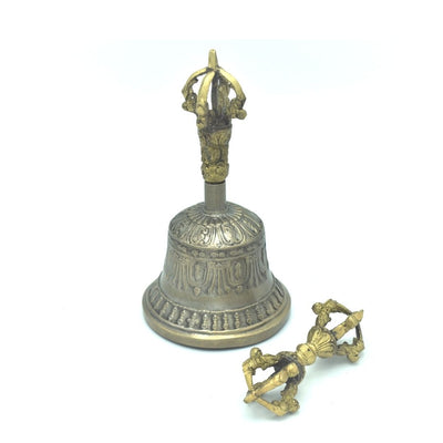 Buddhist Bell and Dorje, Bell and Vajra, 5 prong