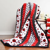 Minky Quilt with Ladybugs