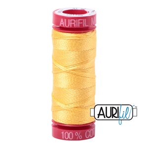 Aurifil 12 wt. 1135 in Pale Yellow