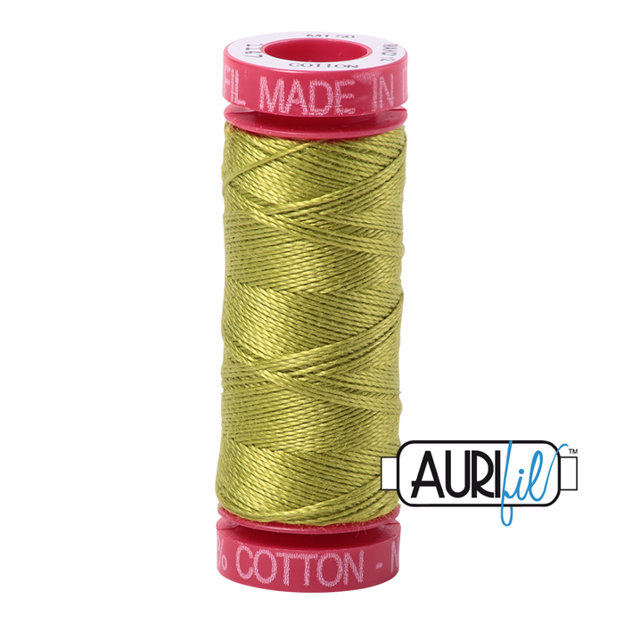 Aurifil 12 wt. 1147 in Light Leaf Green