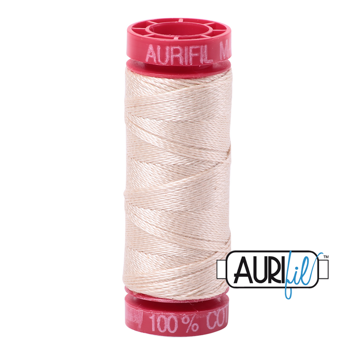 Aurifil 12 wt. 2000 in Light Sand