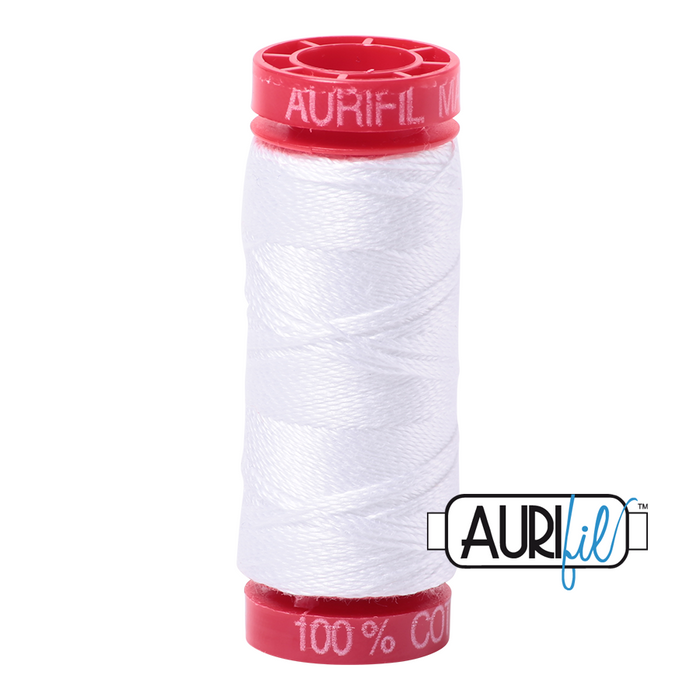 Aurifil 12 wt. 2024 in White