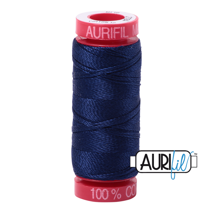 Aurifil 12 wt. 2784 in Dark Navy