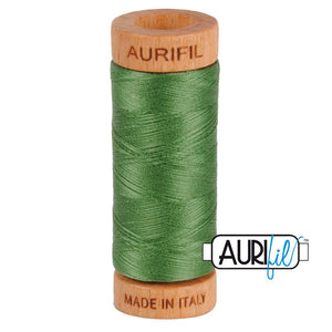 Aurifil 80 wt. 2890 in Very Dark Grass Green