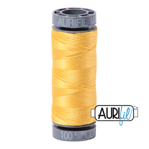 Aurifil 28 wt. 1135 in Pale Yellow